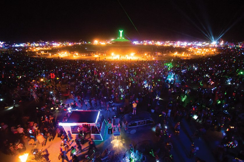 During Burning Man, thousands of people gather in Nevada's Black Rock Desert. Photo by Neil Girling