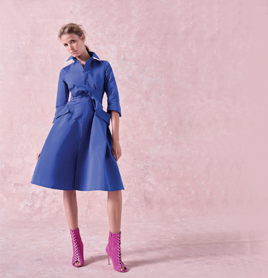 CH Carolina Herrera's Taffeta Shirt Dress.