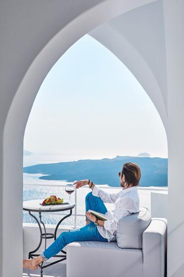 Cosmopolitan Suites on the Greek isle of Santorini.