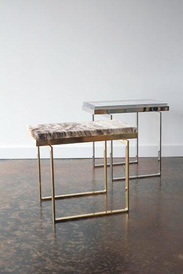 Gretchen Everett's custom tables.