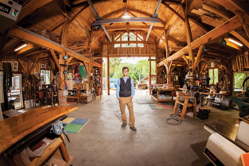 Vicco Von Voss poses in his workshop on Maryland's Eastern Shore.