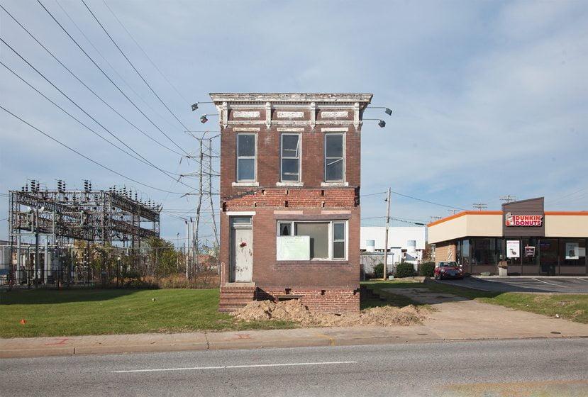 Marcin examined Baltimore's abandoned Gypsy House, now razed.