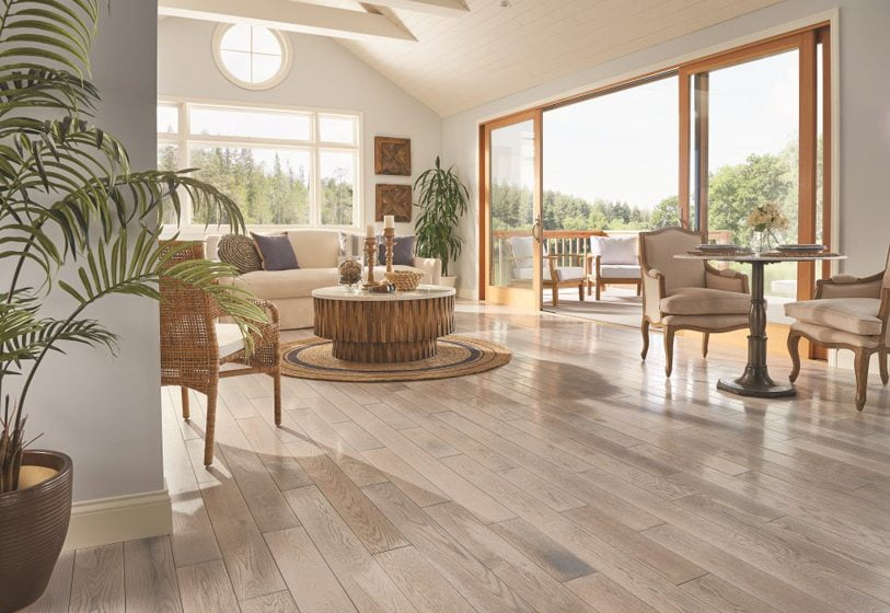 Armstrong's Paragon engineered-wood flooring.