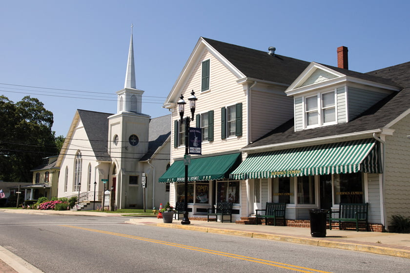 Durding's Store awaits on Main Street.