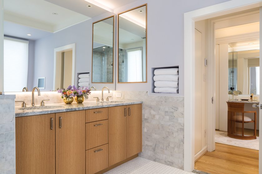 The master bath now features a soaking tub and a walk-in shower.