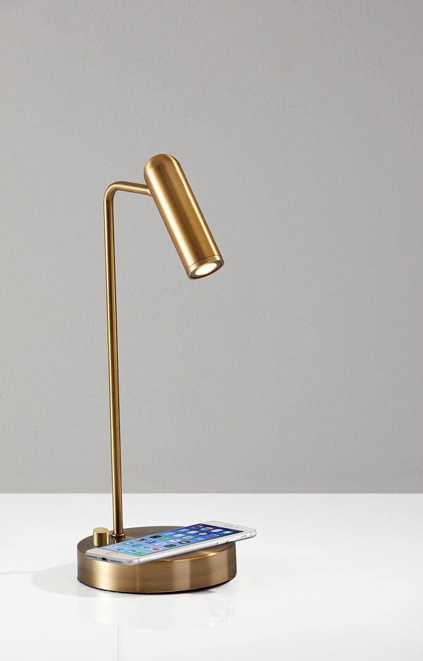 The AdessoCharge lamp powers users' smartphones.