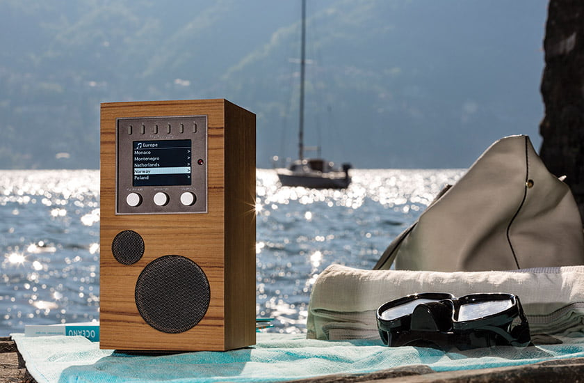 The portable Amico plays music in any environment.