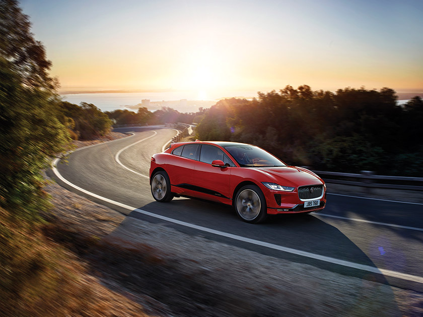 The 2019 I-PACE, Jaguar's first electric all-performance SUV.