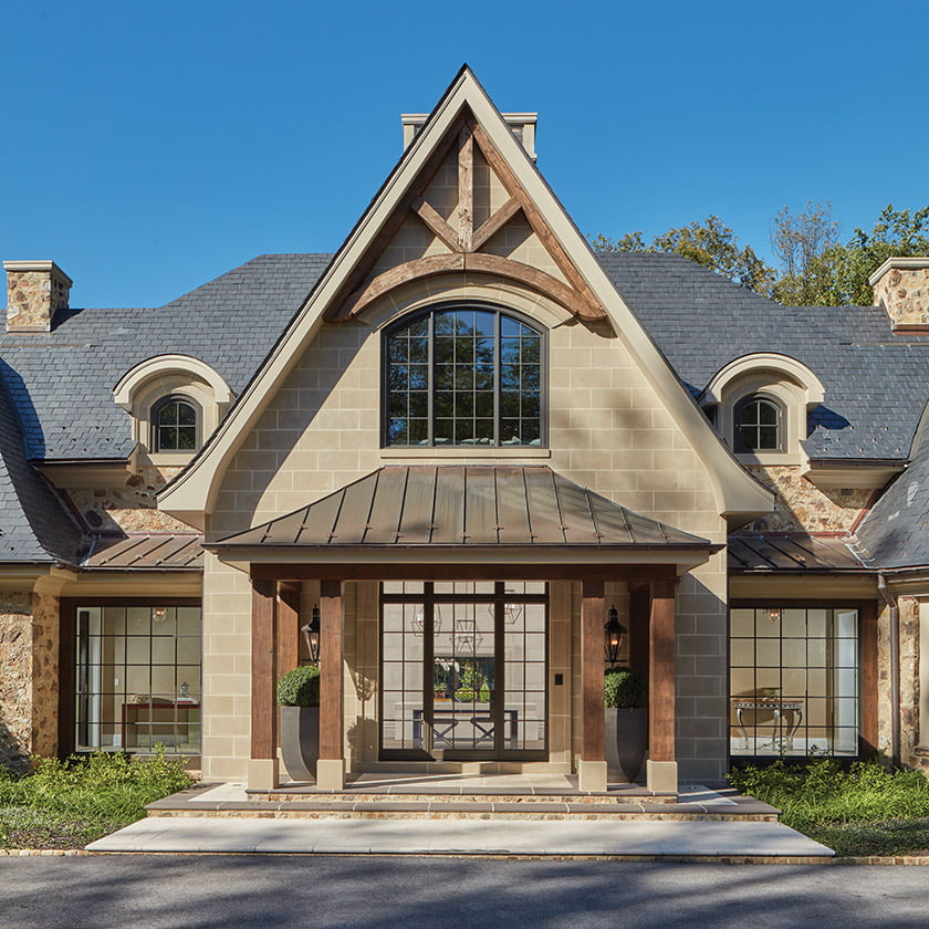 Clients wanted an Old World look for their custom home.