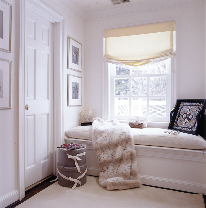 A luxurious dressing room by Barbara Hawthorn Interiors.