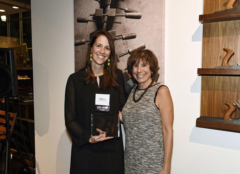 Erica Burns (left), Idea Book editor Julie Sanders.