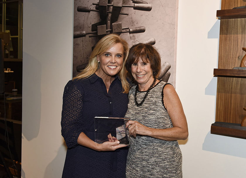 Kristin Peake (left), Idea Book editor Julie Sanders.