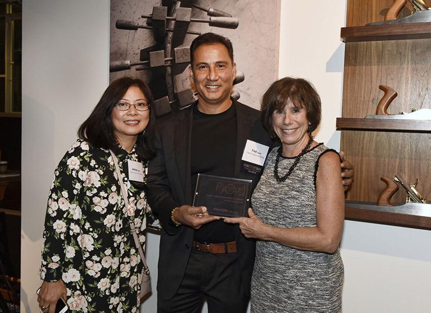 Arlene Bache (left) and Fred Jamal, Idea Book editor Julie Sanders.