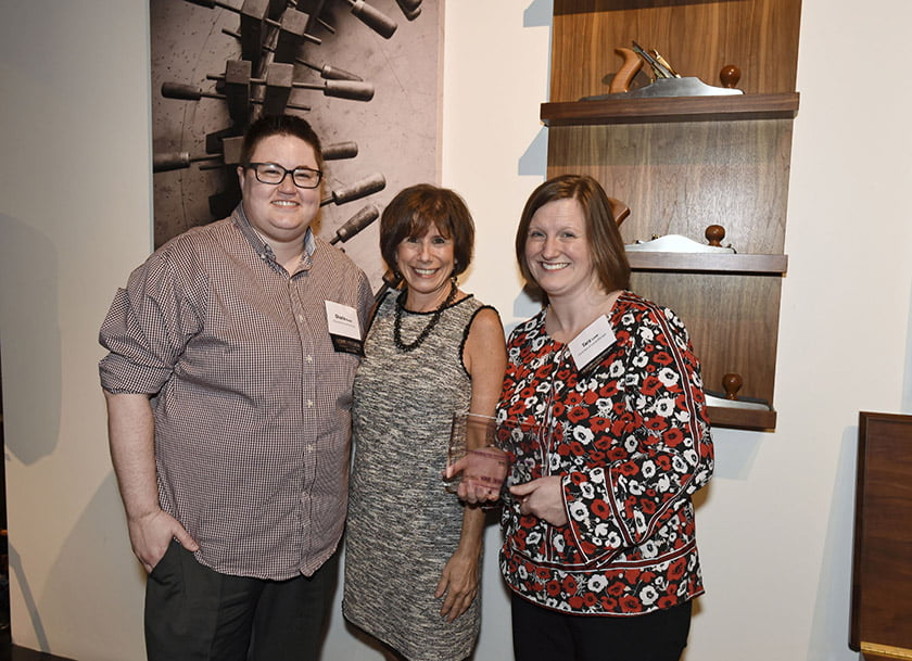 Sharla Keslar (left), Idea Book editor Julie Sanders, Tara Lowe.
