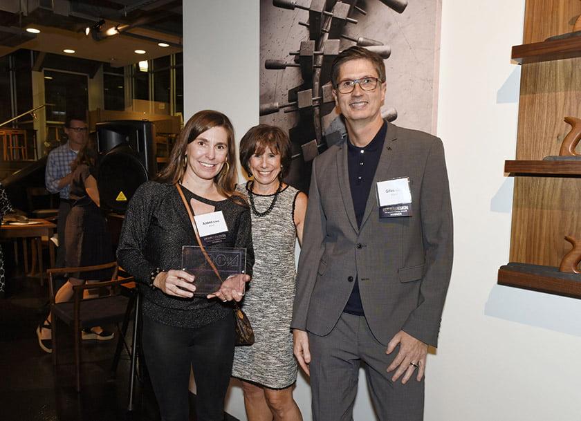 Andrea Ecberg (left), Idea Book editor Julie Sanders, Gilles Gobart.