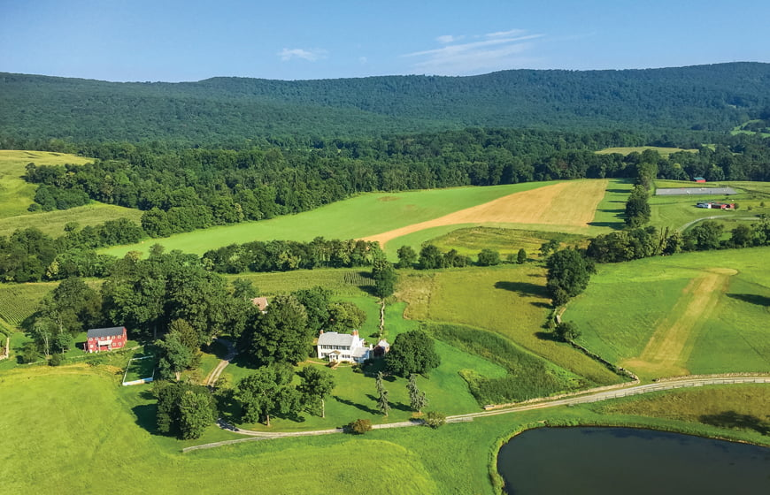 MacKenzie shot an aerial photograph of their home and its pristine surroundings from his ultra-light aircraft.