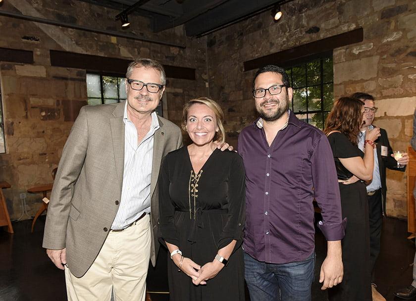 Left to right: Charles Krewson, Megan Gillis, Derek Goldstein.