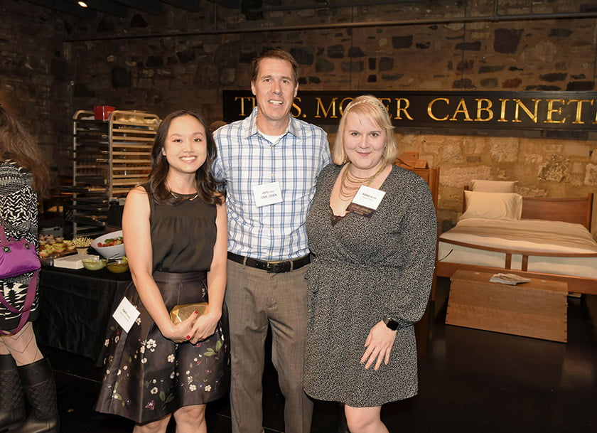 Left to right: Hanh Duong, Home & Design's Jerry Parks, Abbey McClain.