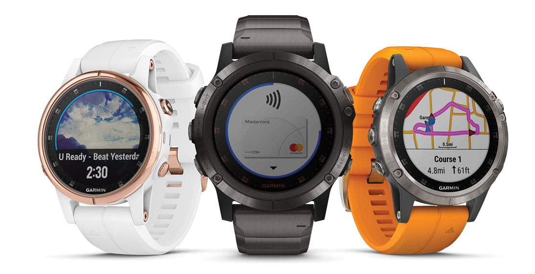 Garmin's fenix 5 Plus.
