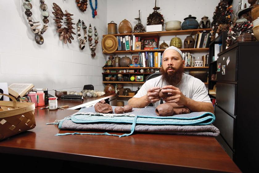 Sharif Bey's ceramics range from utilitarian to sculptural.