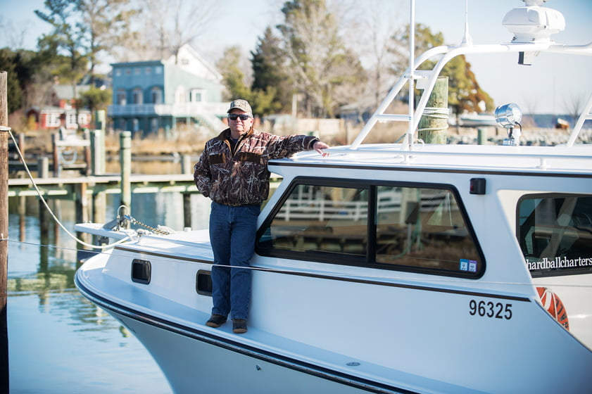 Charter boats are available for guests who wish to fish or crab in the Chesapeake.