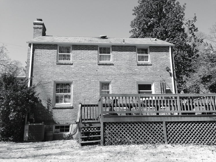 BEFORE: The rear façade.