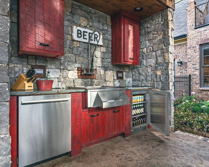 True Residential's under-counter refrigerator.