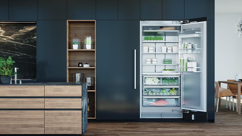 Liebherr's Monolith refrigerator column.