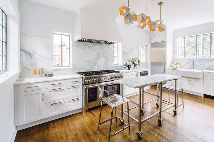 Aidan Design's Nadia Suburban renovated a cramped kitchen in DC for a consummate cook and entertainer.