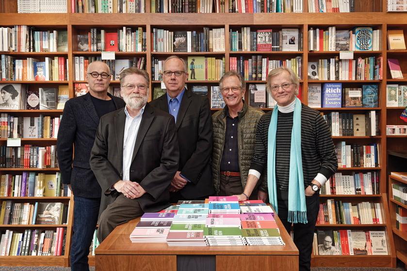 Author Boyce Thompson (seated) with architects Robert Gurney, Stephen Muse, Richard Williams and Mark McInturff at Politics and Prose. © Bob Narod