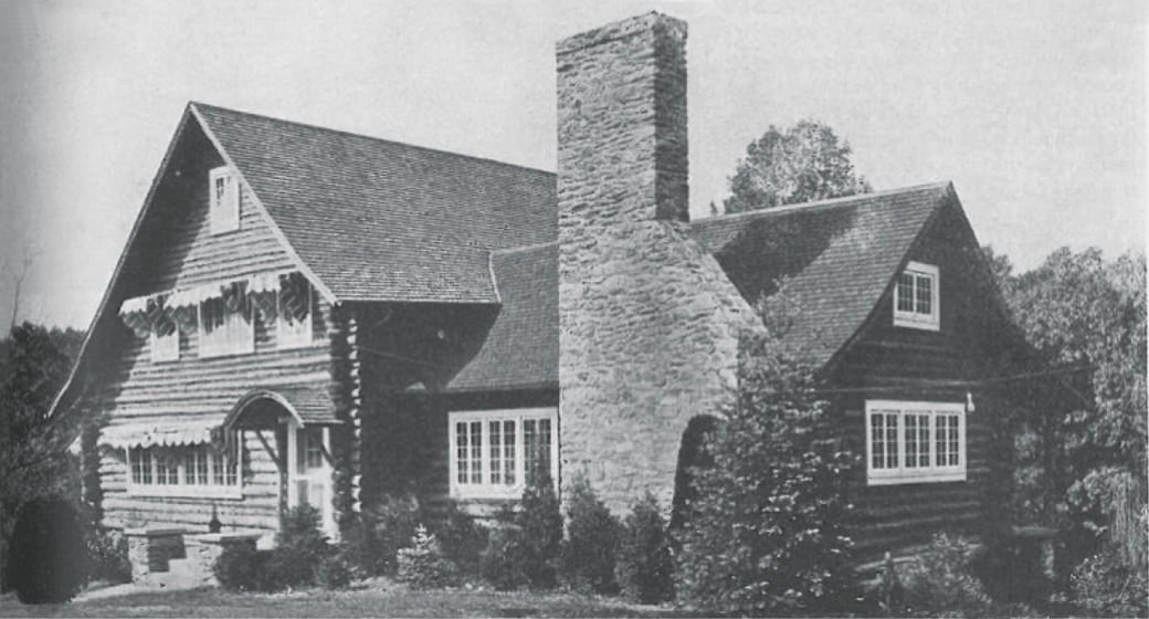 Before: The 1919 house began life as a log cabin.