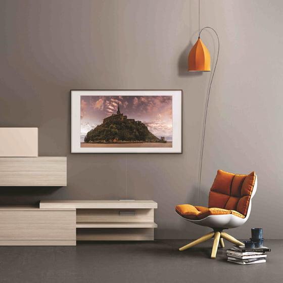 Samsung's Frame TV, shown in Art Mode.