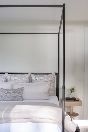 The master bedroom enjoys great light.