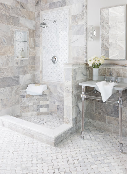 A room vignette in The Tile Shop's Chantilly location.