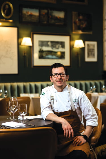 Chef Andrew Fontaine at The Alexander Brown Restaurant. © Amy Pezzicara