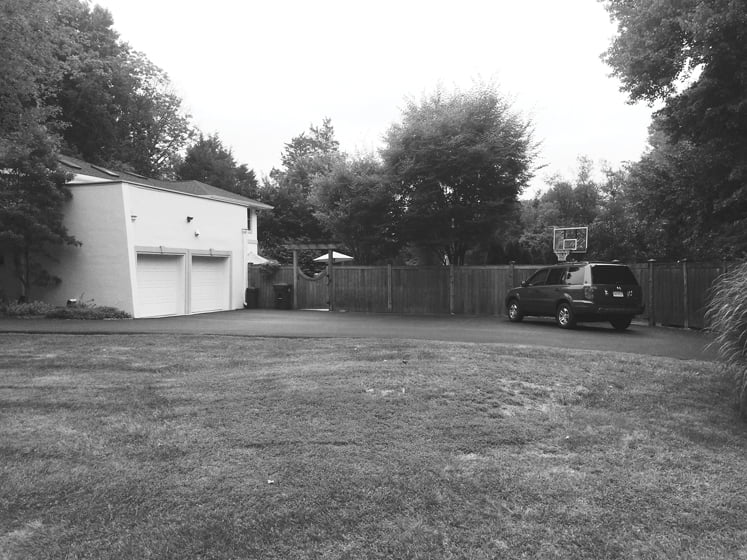 A photo of the house before the addition.