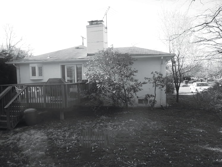 A before shot of the home.