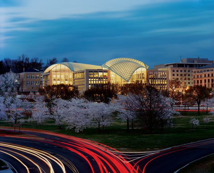 The first LEED Gold-certified building on the National Mall. . .the United States Institute of Peace headquarters.