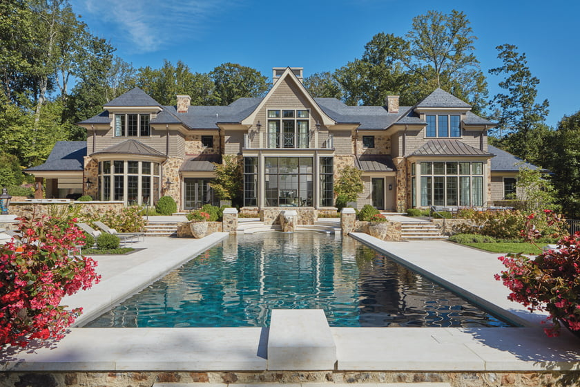 A custom Maryland home by Pyramid Builders and Vincent Greene Architects. © David Burroughs