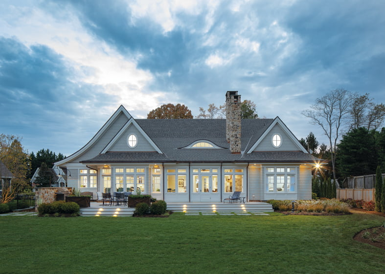 Winchester recently completed a custom home, designed by Hammond Wilson, in Annapolis. © Kevin Weber
