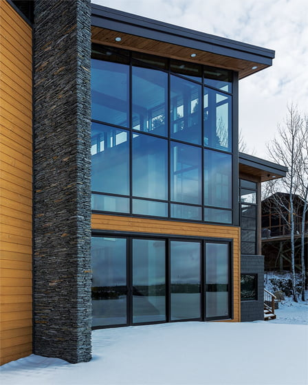 Loewen's Timber Curtain Wall system.