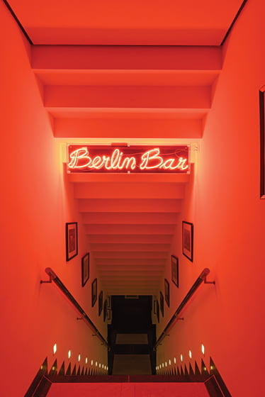 The Berlin Bar is located on the lower level of the residence.