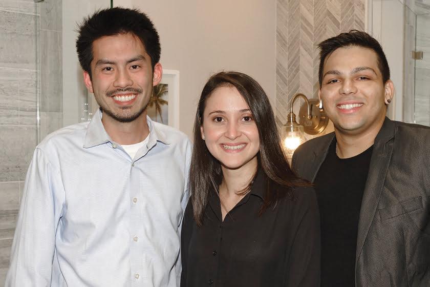 Andrew Chin, Leslie Linares, Christian Soldevila.