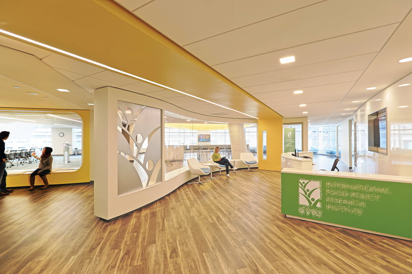 WORK: DCS Design, Brittany Brown, ASID; IFPRI Headquarters. © Jay Choi.