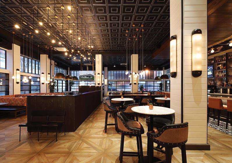 ENTERTAIN: HVS Design, Christine Shanahan, ASID; Porch Kitchen & Bar. © Whitney Cox.