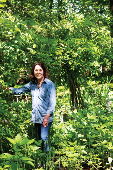 Pat Parker, a master gardener, tends the verdant, seven-acre grounds surrounding her childhood home.