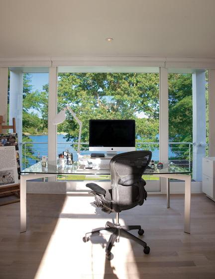 The second-floor office belongs to Panero.