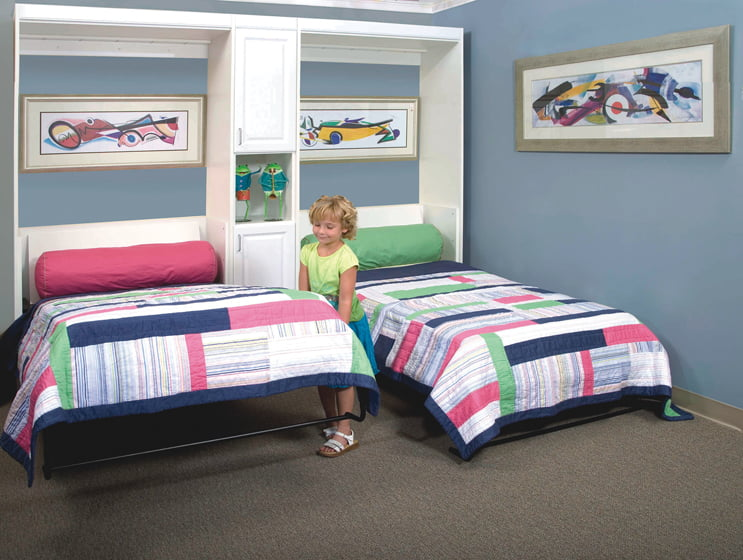 Twin Murphy beds from More Space Place.