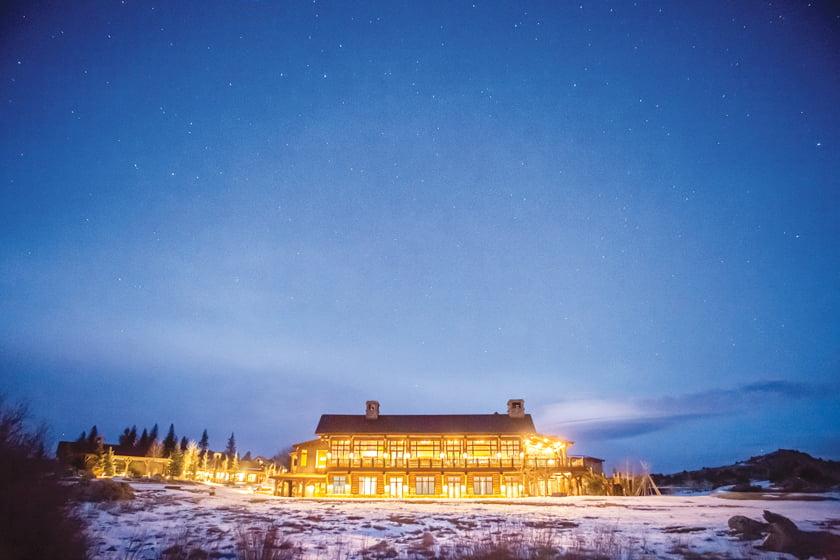 The Lodge & Spa at Brush Creek Ranch.
