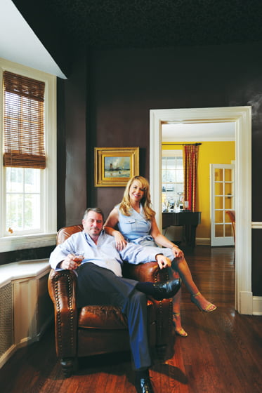 Chef Robert Wiedmaier and his wife Polly at home.